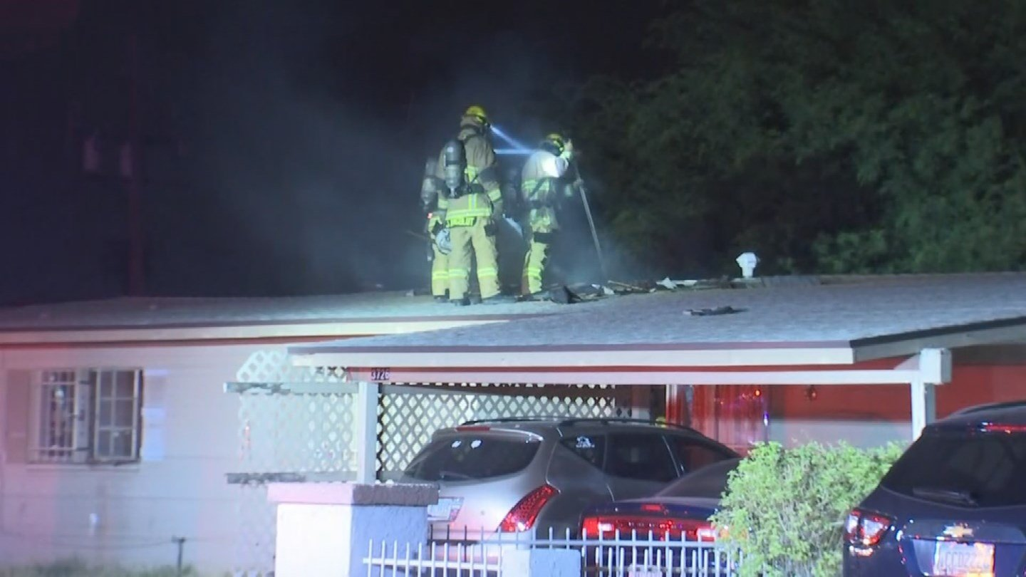 An attic fire in a Phoenix home has displaced a family of five early Thursday morning. (Source: 3TV/CBS 5)