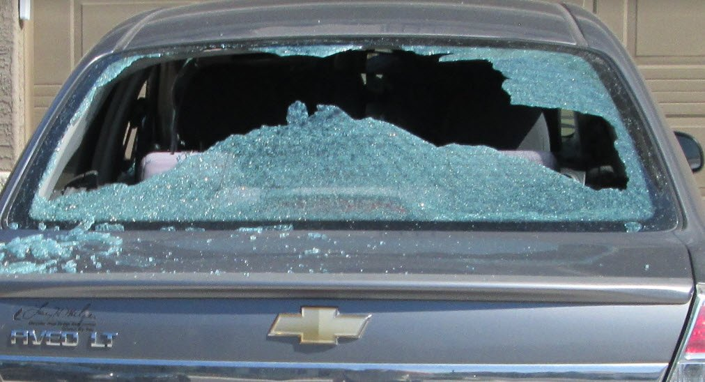 Damage from vandalism spree in Waddell (Source: MCSO)