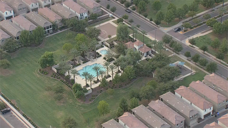 A toddler was pulled from a pool in Gilbert on Thursday afternoon. (Source: 3TV/CBS 5)