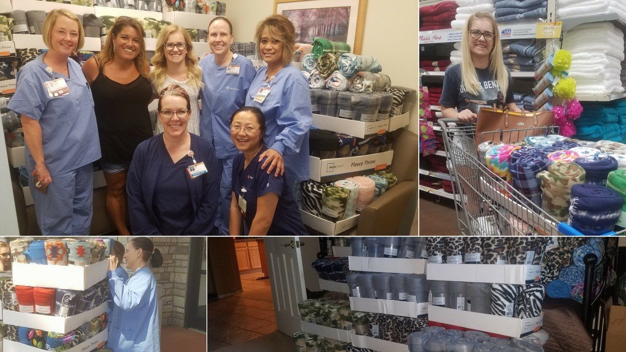 A Basha High School senior helped collect and donate over 500 blankets to Mercy Gilbert for her senior year pre-med project. (Source: Stephen Stryker)