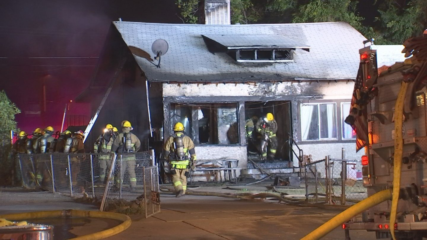 A family of six got out safe after their house caught fire in Phoenix early Friday morning. (Source: 3TV/CBS 5)