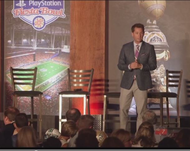 Scottsdale native Matt Barrie emceed the 2017 Fiesta Bowl Kickoff Luncheon.