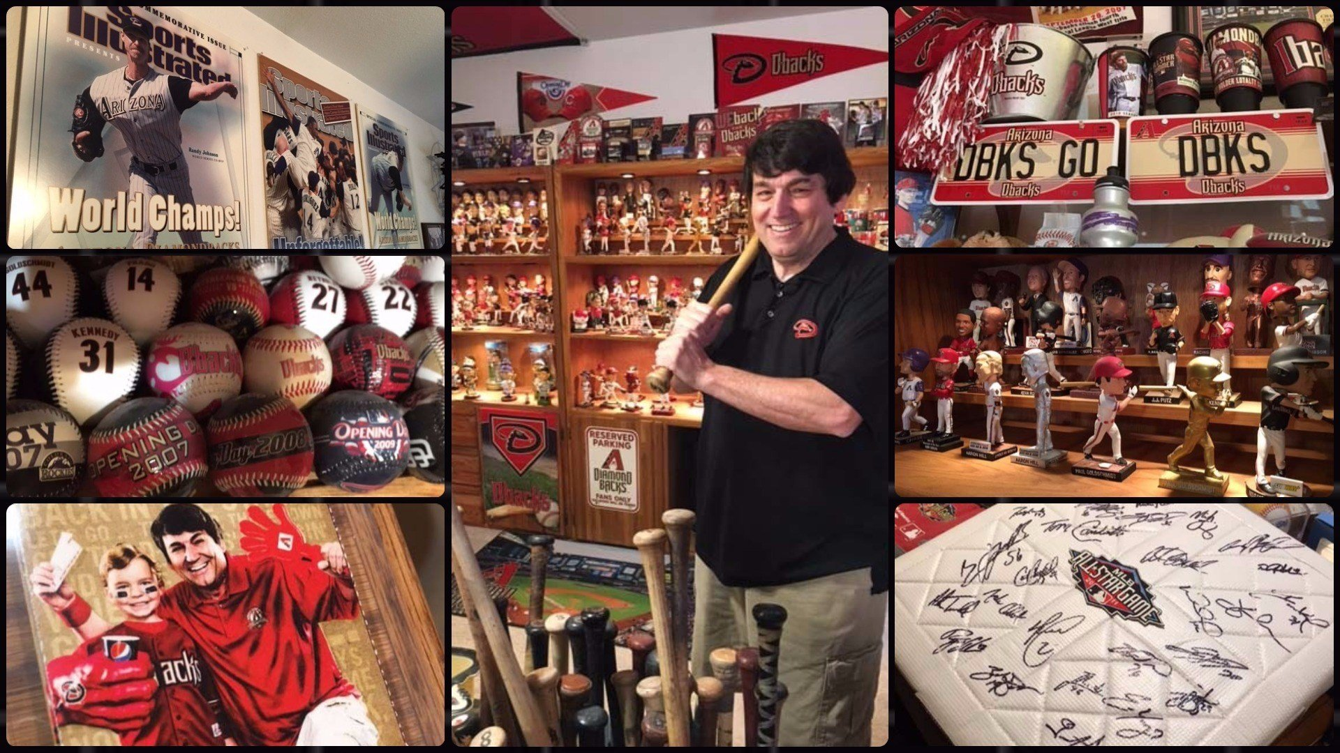 Frank Gennario of Chandler is a Diamondbacks super fan. He's only missed two games in past 20 years and his home is full of DBacks memorabilia. (Source: 3TV/CBS 5)
