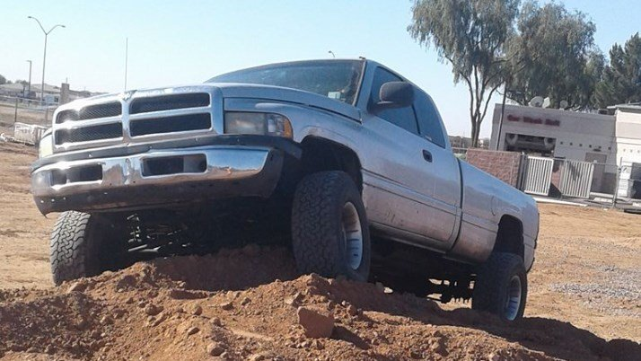 Police said the victim's vehicle was stolen. The vehicle was described as a light gray Dodge Ram 2500 Diesel with Arizona license plate BFZ2164. (Source: Phoenix Police Department)
