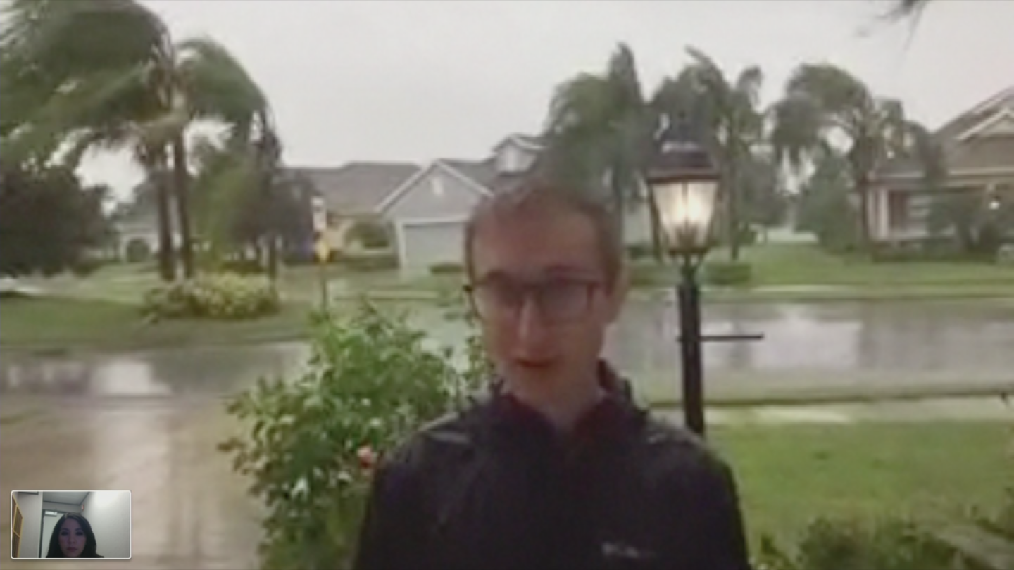When Arizona native Phillip Pierce moved to Florida recently, he never expected he'd come face to face with Mother Nature in such an extreme way. (Source: 3TV/CBS 5)
