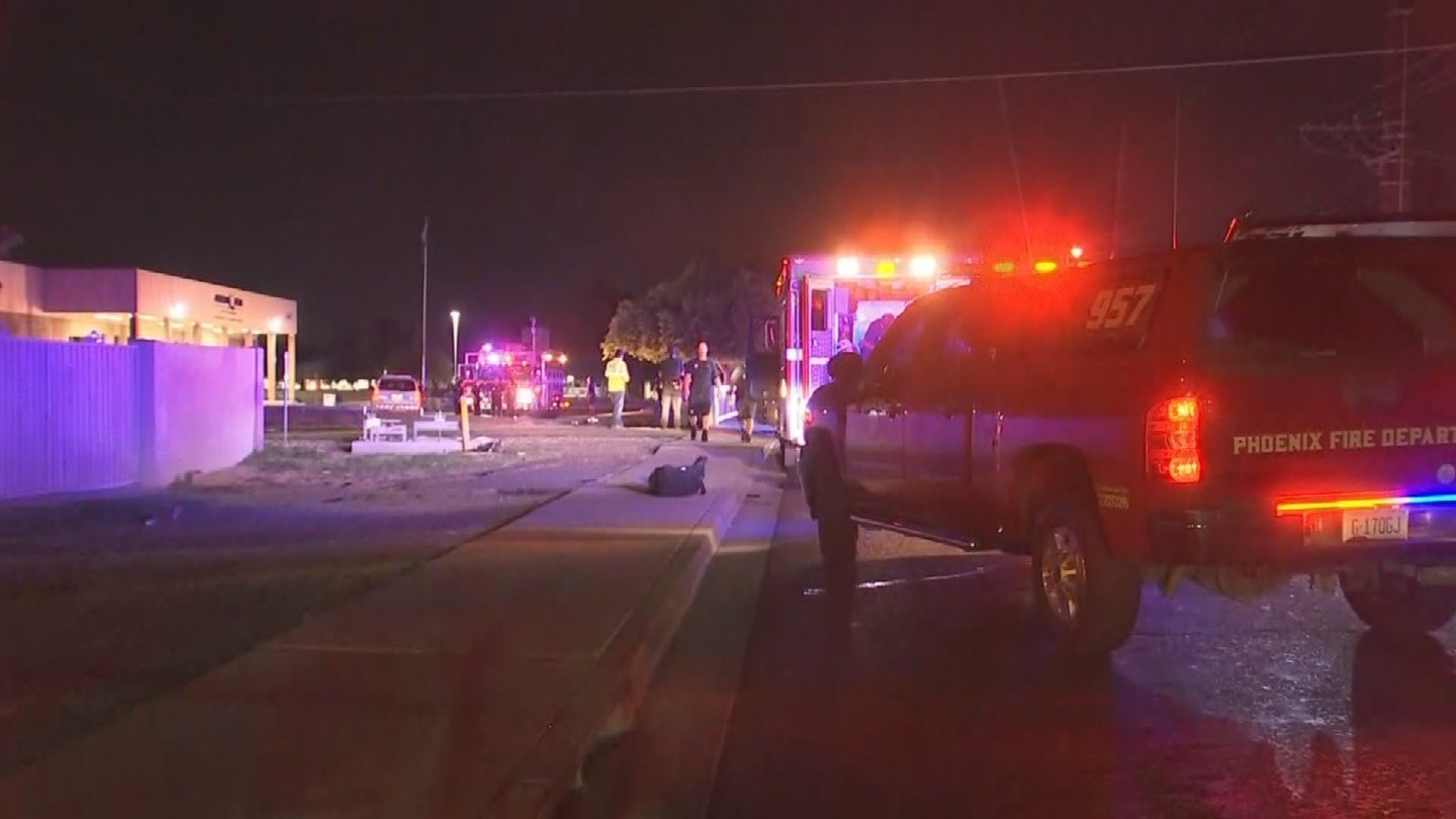 The accident occurred around 1:00 a.m. Monday morning near 51st Avenue and Osborn Road.  (Source: 3TV/CBS 5)