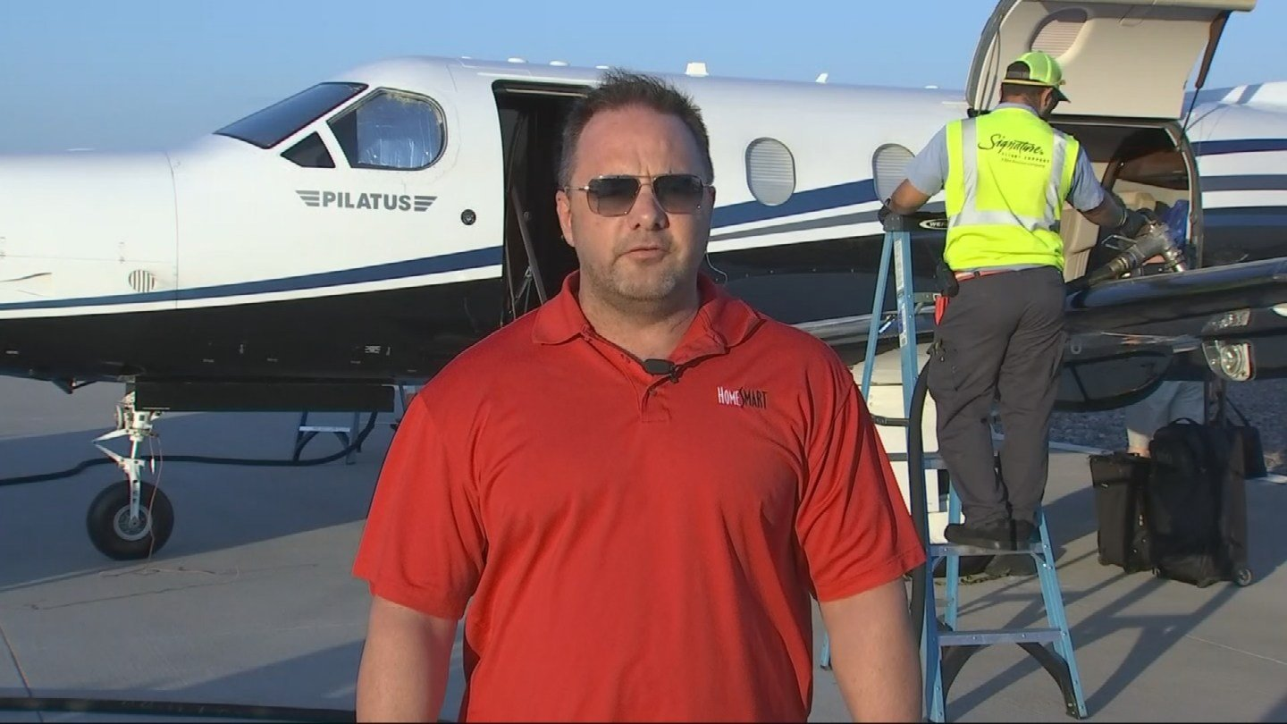 Valley pilot Matt Widdows is flying supplies to storm victims in Florida.(Source: 3TV/CBS 5)