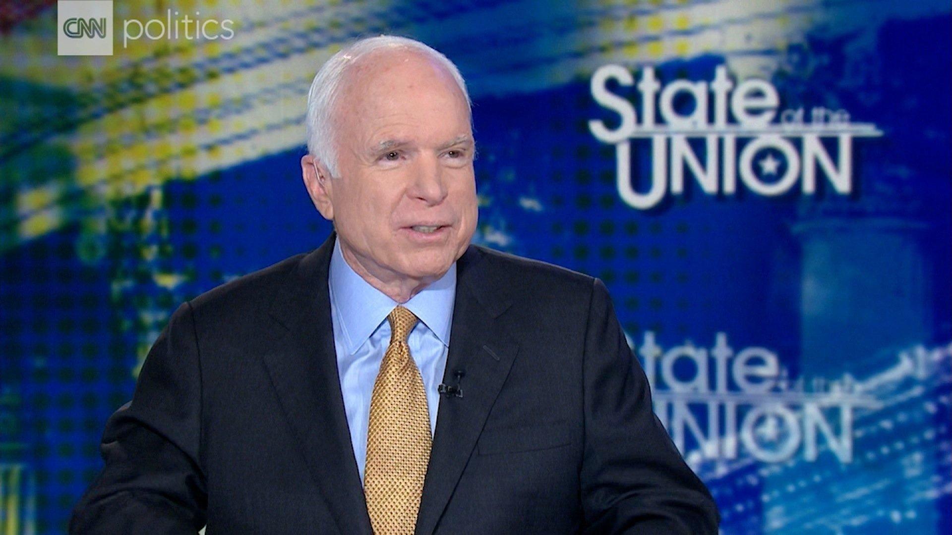 Senator John McCain speaks to CNN on September 10, 2017. (Source: CNN)