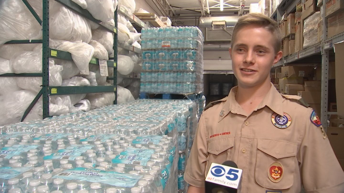 Walmart awarded the Boy Scout a $2,000 grant to help his mission. (Source: 3TV/CBS 5)