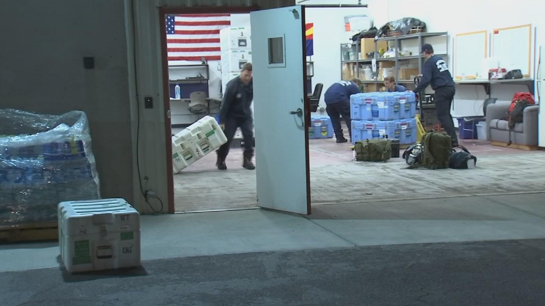Emergency responders work during Hurricane Harvey. (Source: 3TV/CBS 5 News)