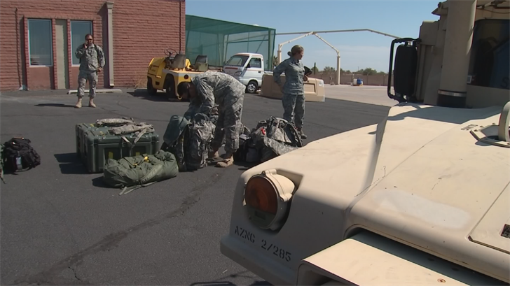 The Arizona Guard members teamed up with other guard units from other states. (Source: 3TV/CBS 5)