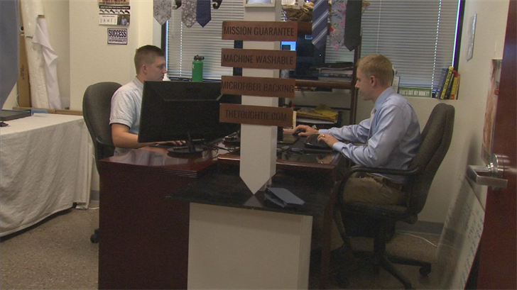 After years of wearing ties for work, Kevin Shoemaker and Skylar Bennett came up with Tough Ties. (Source: 3TV/CBS 5)
