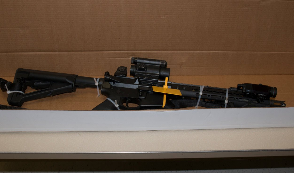 A judge ruled that profane etching on a former Mesa police officer's AR-15 is inadmissible as evidence for his murder case. (Source: Mesa PD Department)