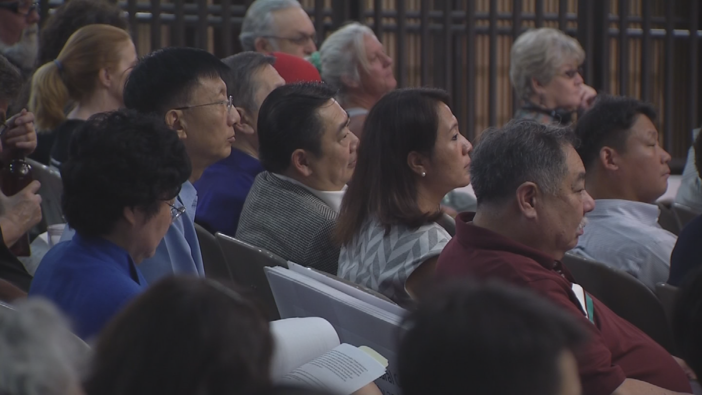 Dozens of people showed up to Tuesday's City Council meeting in an effort to save the property's Chinese architecture and artifacts. (Source: 3TV/CBS 5)