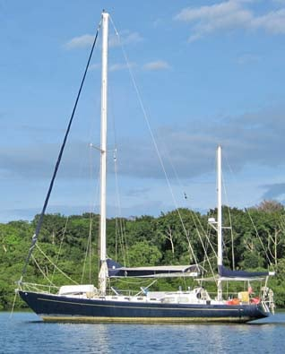 The boat a Gallant 53-foot going ketch, and there are only 22 boats like it in the world. (Source: Paul Horton)