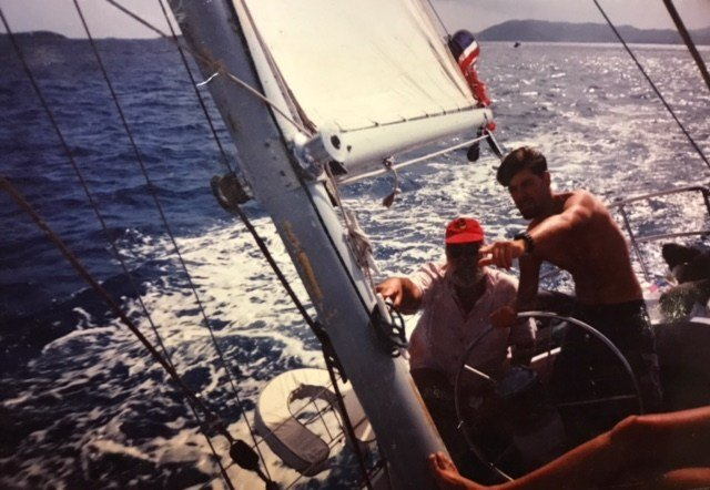 Paul on one of his many sailing adventures. (Source: Paul Horton)