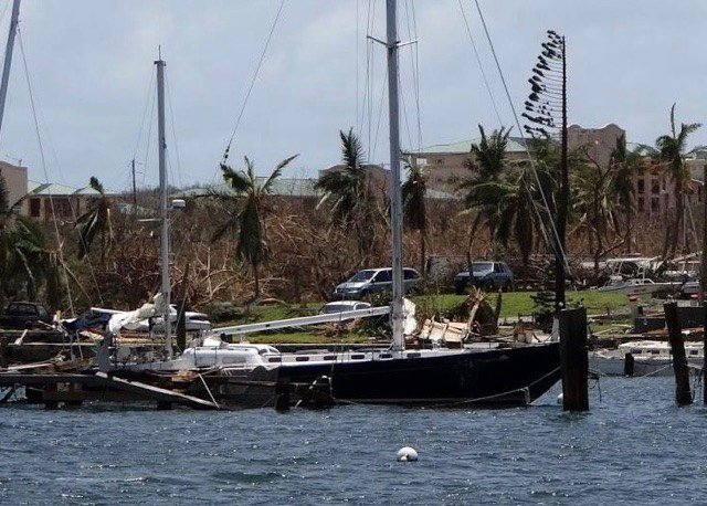 Alaunt is still floating even after the hurricane. (Source: Paul Horton)