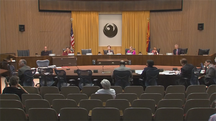 The Phoenix City Council signaled its intent to withhold a decision on the creation of a civilian board until the City Manager's Office can complete a study on the topic. (Source: 3TV/CBS 5)