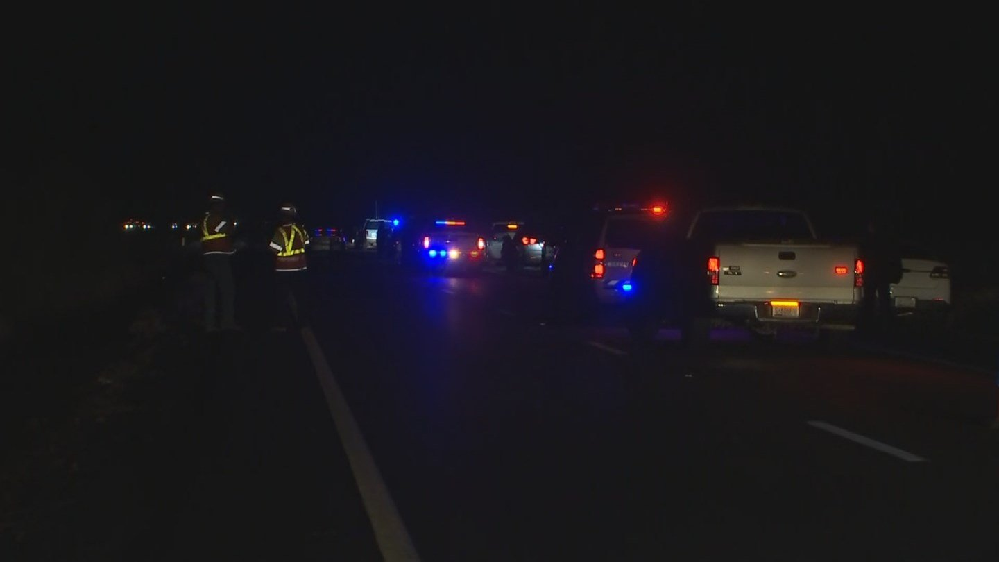 A trooper was performing a traffic stop around 1 a.m. on westbound Interstate 10 near milepost 57 when the driver and passenger exited the vehicle. The passenger opened fire at the trooper with a submachine gun. (Source: 3TV/CBS 5)