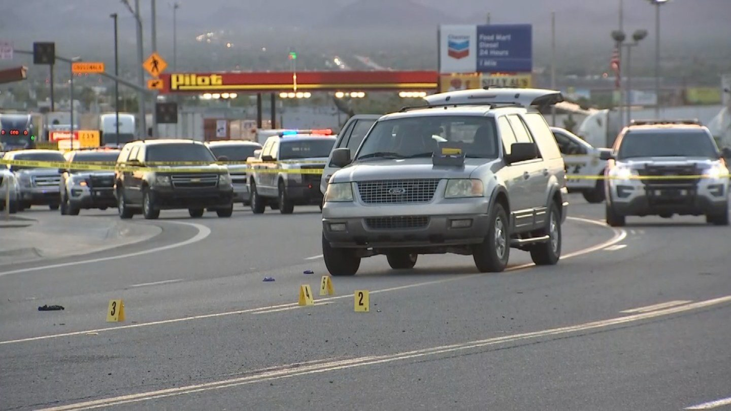 One suspect is dead and another is in custody after an officer-involved shooting in La Paz County early Wednesday morning, according to the Department of Public Safety. (Source: 3TV/CBS 5)