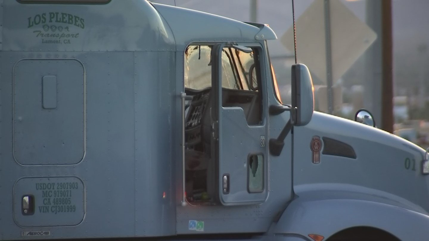 DPS said the big-rig driver was sleeping when the suspect assaulted him and held him at gunpoint. (Source: 3TV/CBS 5)