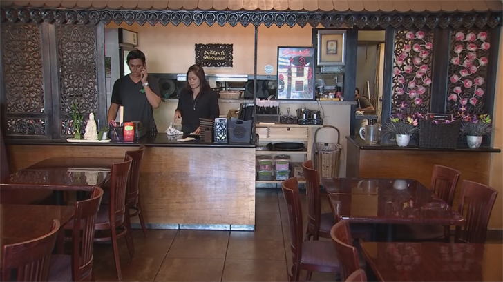 The owner of Thai Basil said he hopes the remodel will bring more people to the area at night. (Source: 3TV/CBS 5)