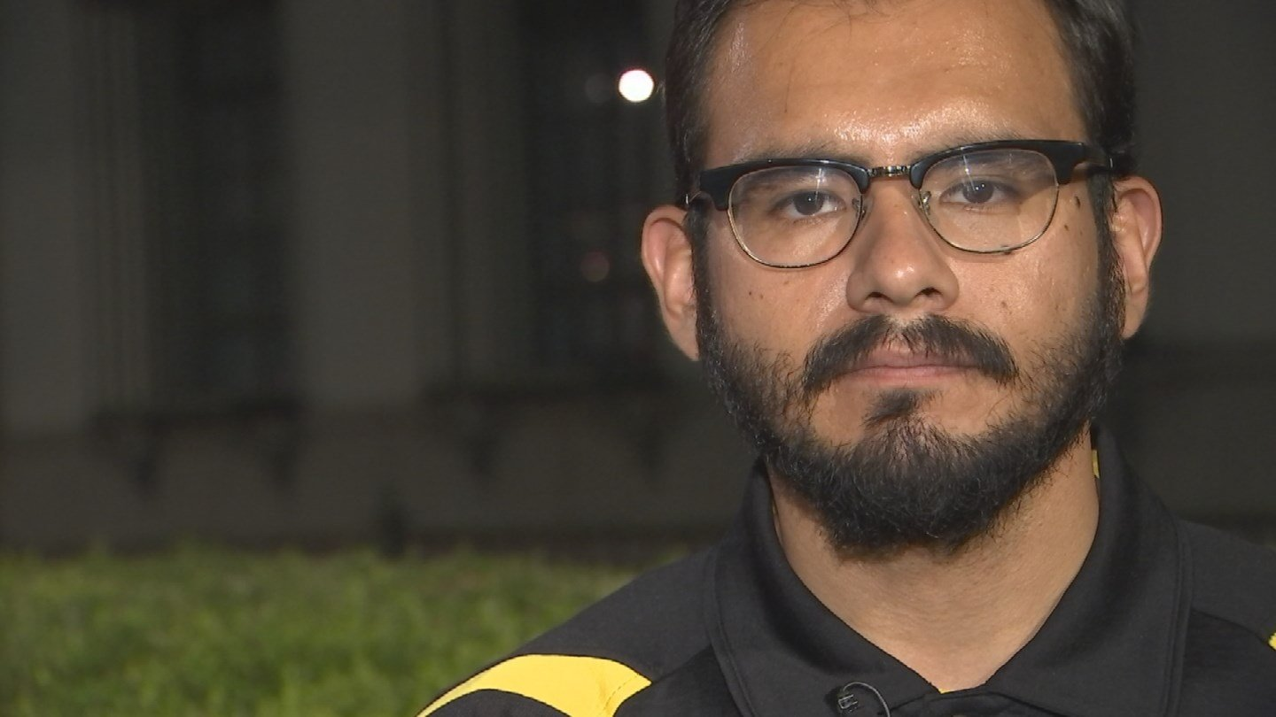 """I think that's a good step forward but we as an undocumented community have been hearing this for years,"" said Edder Diaz Martinez, a DACA recipient. (Source: 3TV/CBS 5)"