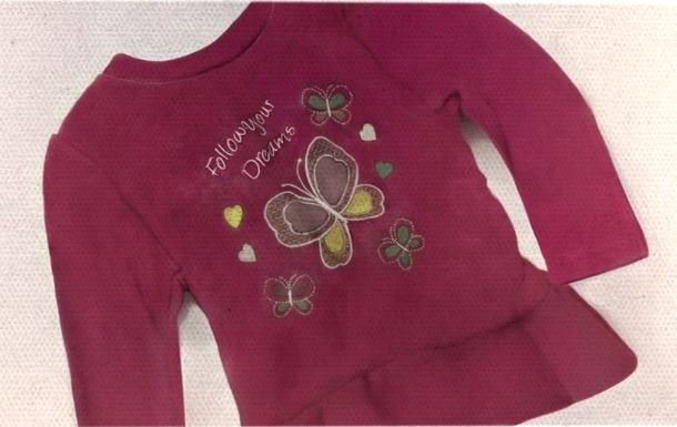 The young girl was found wearing this dress. (Source: National Center for Missing & Exploited Children)