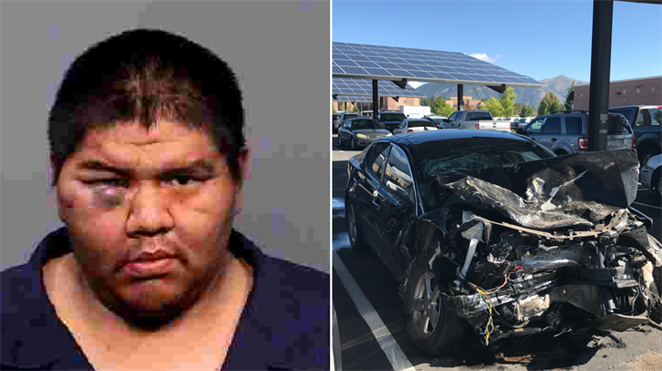 Tito Whiterock, left, and one of the cars, right. (Source: Flagstaff Police Department)