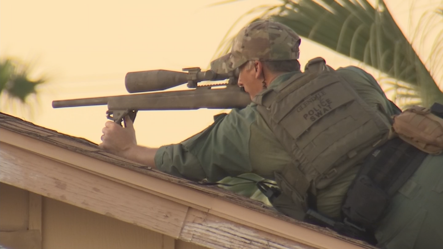 Officers thought a suspect was inside the home. (Source: 3TV/CBS 5)