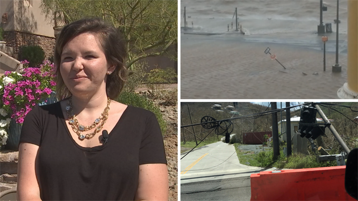 An Arizona woman survived being on St. Thomas when it was hit by Hurricane Irma. (Source: 3TV/CBS 5)