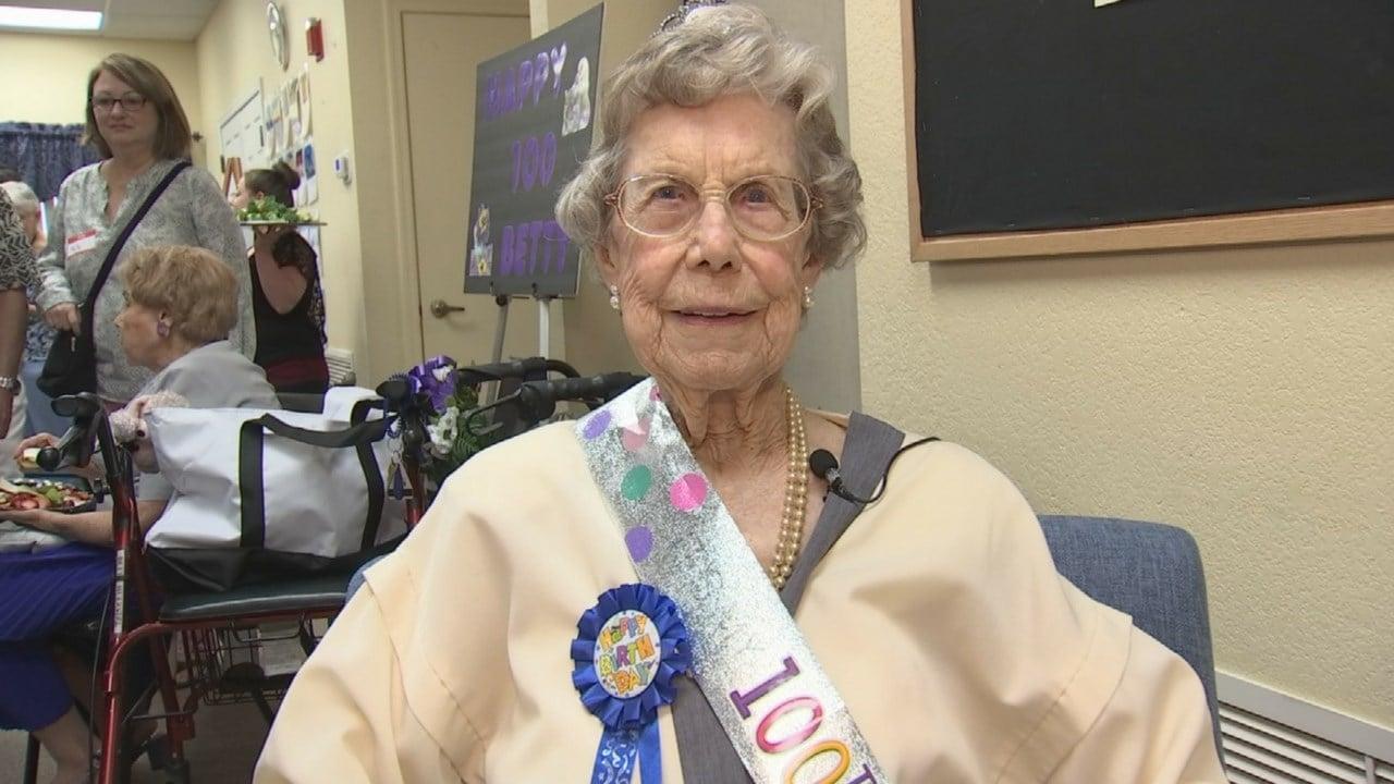 Betty Huerstel turned 100 on Sunday.(Source: 3TV/CBS 5)