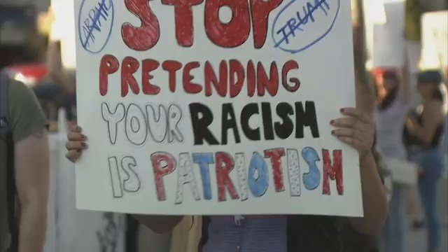 Protesters gather in Las Vegas to voice their opposition to former Maricopa County Sheriff Joe Arpaio. (Source: KVVU)