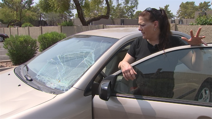 Marie Gamalski said a car wash caused all kinds of damage to her car. (Source: 3TV/CBS 5)