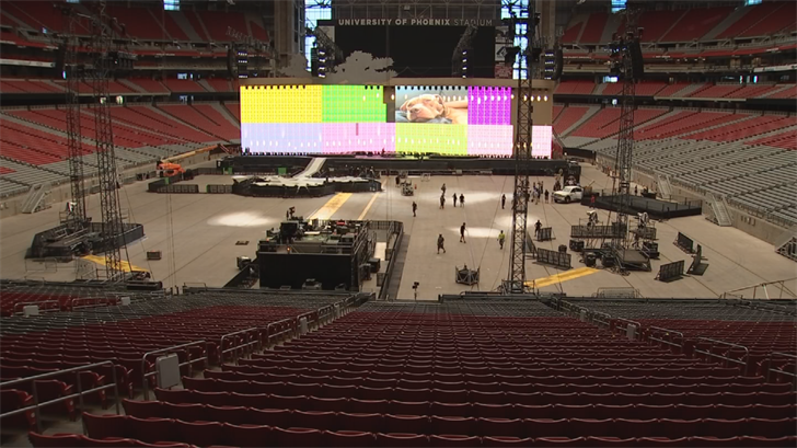 U2 will wrap up their tour in Glendale on Tuesday. (Source: 3TV/CBS 5)