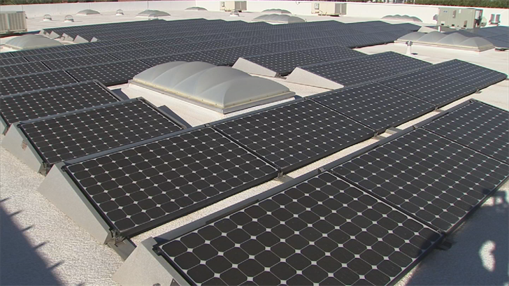 Because of the risk of electrocution, solar panels limit where firefighters can cut into a roof. (Source: 3TV/CBS 5)