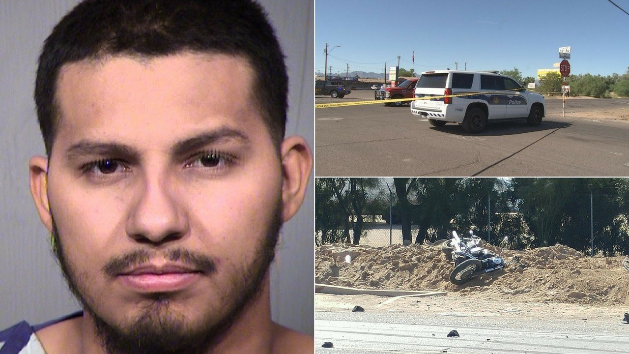 Police in Phoenix say a suspect is in custody in connection with an accident involving a car and several motorcyclists that left five people injured. (Source: 3TV/CBS 5/MCSO)