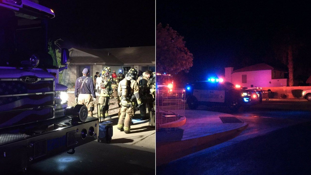 Firefighters were able to save several animals from an overnight Gilbert house fire, according to fire personnel. (Source: Gilbert fire)