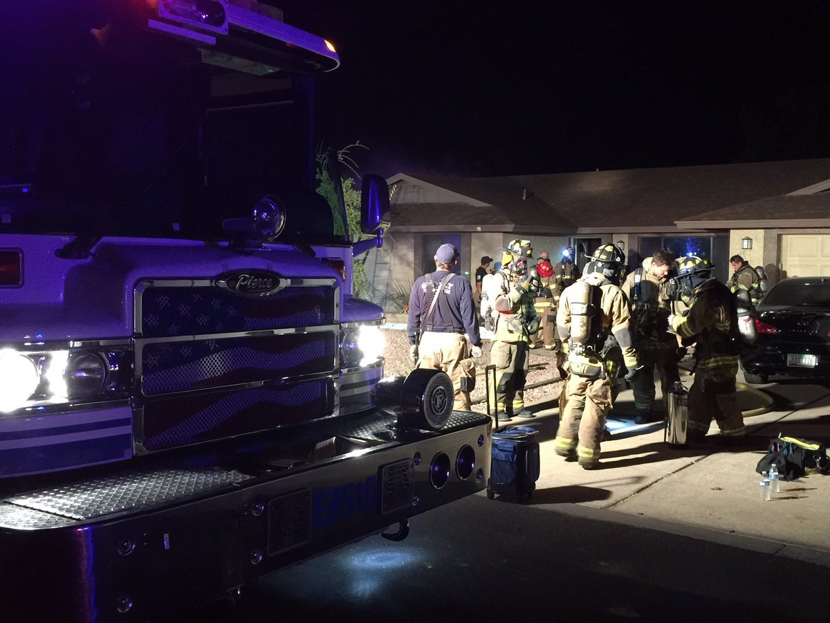 The house fire broke out sometime early Tuesday morning near Guadalupe and Gilbert roads. (Source: Gilbert fire)