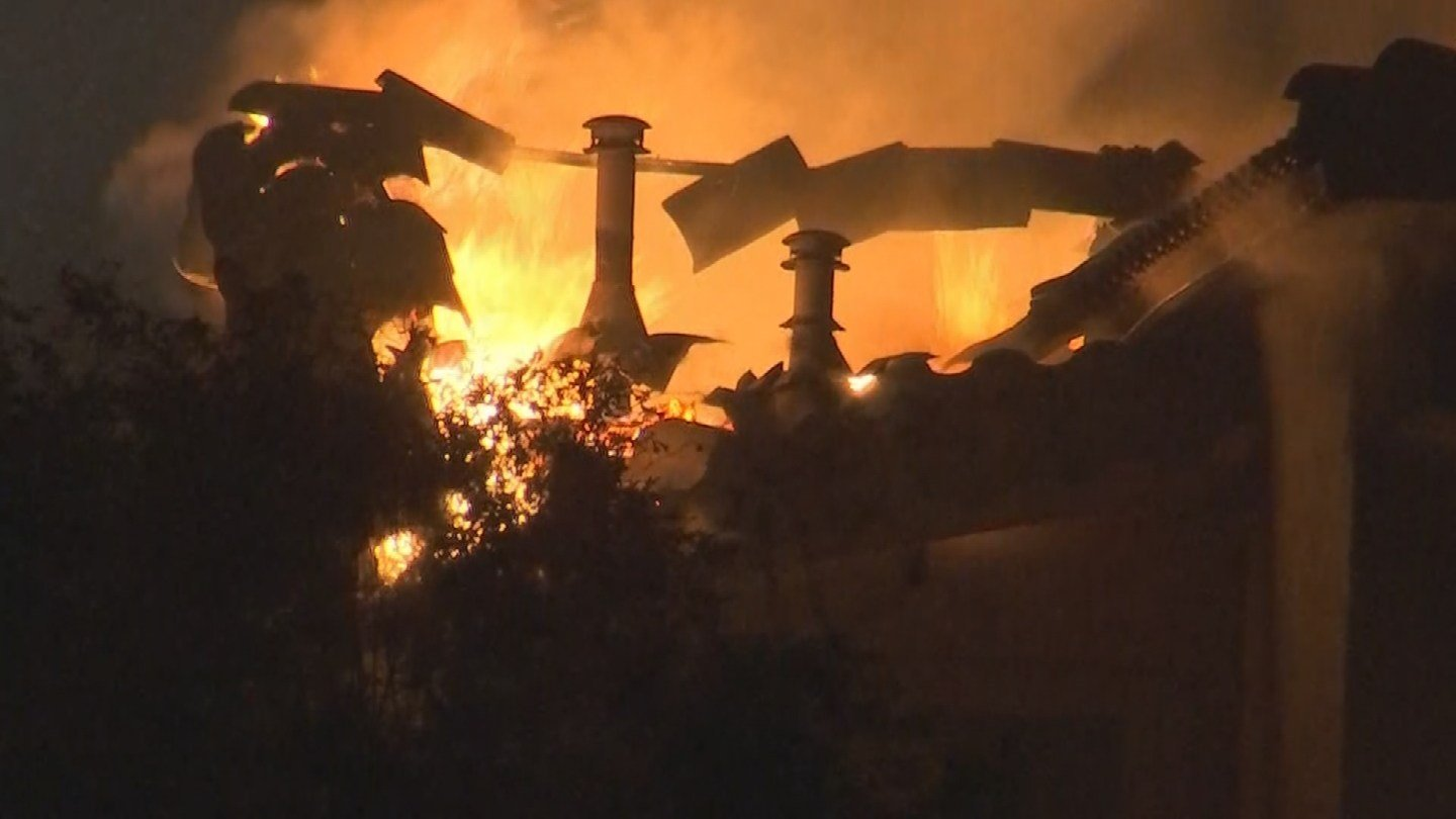 Luckily, firefighters learned that the homeowners were not home and out of town. (Source: 3TV/CBS 5)