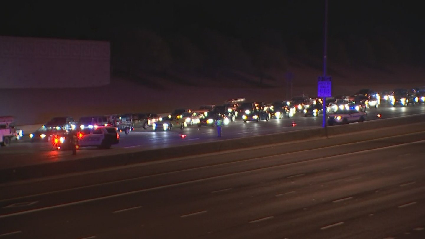 Westbound US 60 is closed for a deadly crash investigation involving a pedestrian in Mesa, according to the Arizona Department of Transportation. (Source: 3TV/CBS 5)
