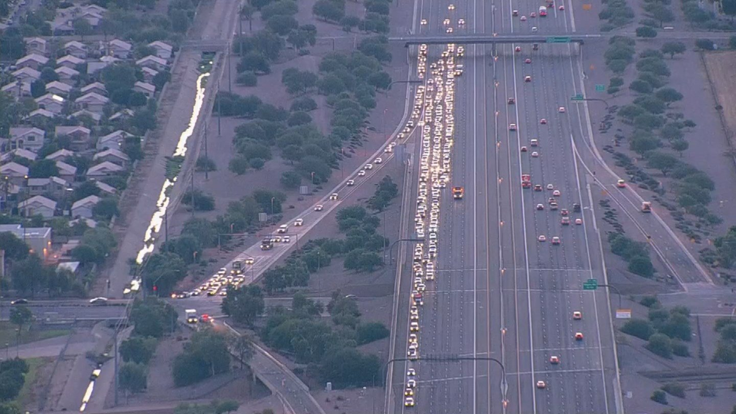 The closure was then expanded to westbound U.S. 60 at theLoop 202 (Santan), according to the Arizona Department of Transportation. (Source: 3TV/CBS 5)