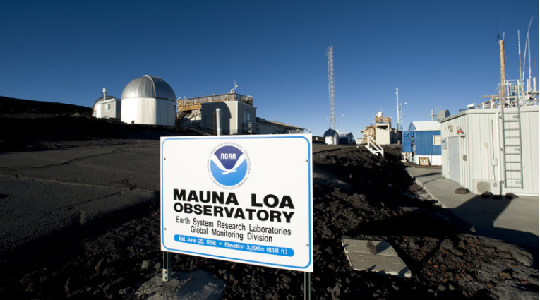 On the Big Island of Hawaii, this is where much of the CO2 measurement is done. (Source: NOAA)