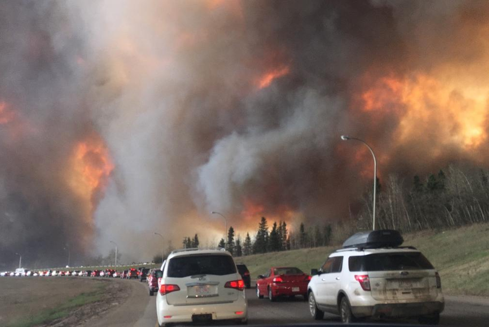 The McMurray Fire burned for weeks in Alberta, Canada. (Source: Canadian Interagency Forest Fire Centre)