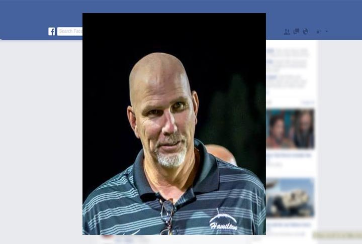 According to police, former head football coach Steve Belles was aware of specific sex acts taking place in the Hamilton High locker room between players at least as early as the 2015–2016 season. (Source: Facebook)