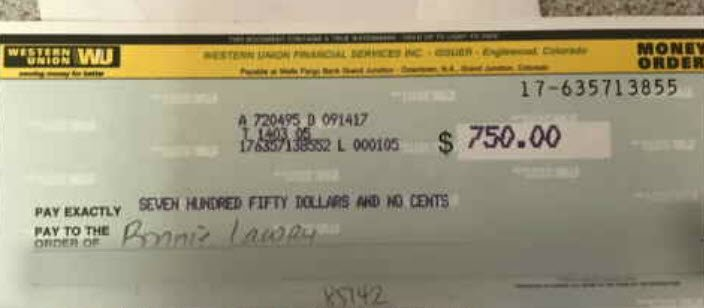 John Reed mailed them a check. (Source: 3TV/CBS 5)