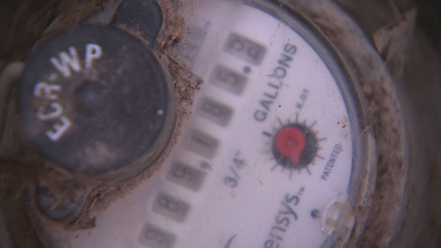 Pena says he's had Johnson Utilities come out twice to check his meter. Both times he says he was told it was working fine. (Source: 3TV/CBS 5)