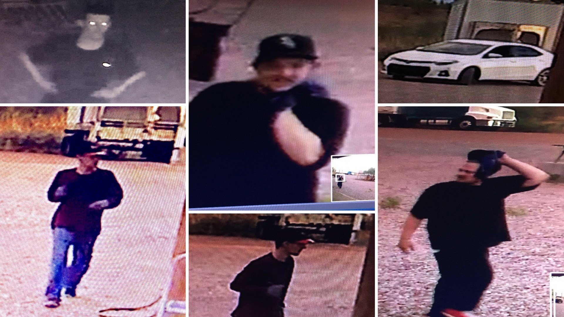 Surprise Police are seeking help identifying men who broke-in and stole equipment from a ranch. (Source: Surprise Police Department)