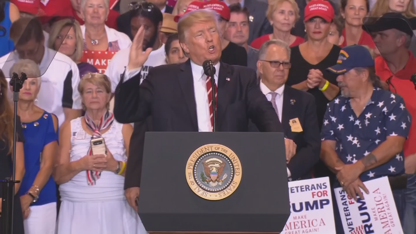 The City of Phoenix spent nearly half a million dollars for Trump's visit in August. (Source: 3TV/CBS 5)