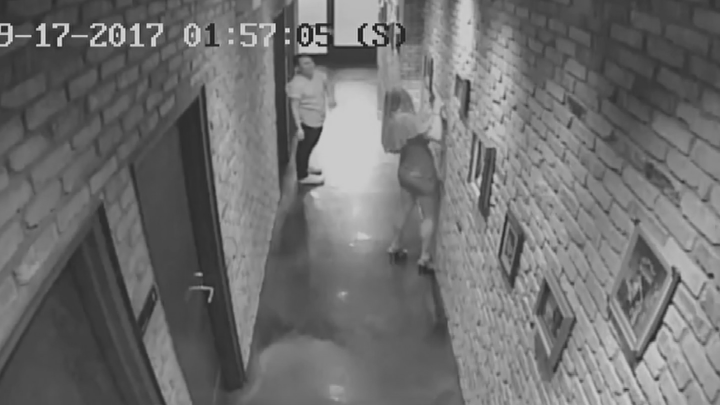 A man and a woman stole a piece of art from Bitter & Twisted. (Source: 3TV/CBS 5)